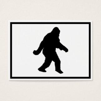 Sasquatch Squatchin' Silhouette Business Card