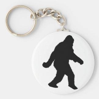 Sasquatch Squatchin' Silhouette Key Ring