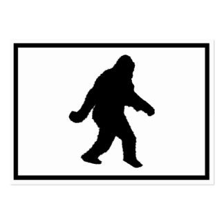 Sasquatch Squatchin' Silhouette Pack Of Chubby Business Cards