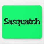 Sasquatch Text Mousepad