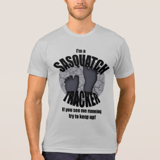 Sasquatch Tracker Funny Running T-shirt