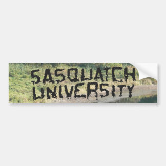 Sasquatch University - Multiple Products Bumper Sticker