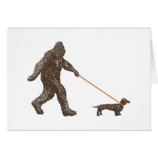 Sasquatch's Best Friend Card