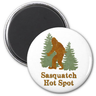 Sasqutch Hot Spot 6 Cm Round Magnet