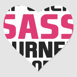 Sass Burns Calories Heart Sticker
