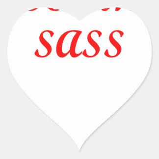 SASS HEART STICKER
