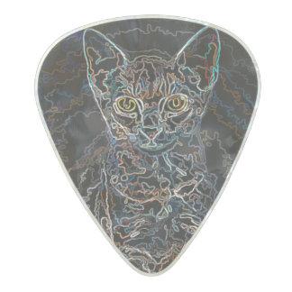 Sassafraz Cat Design Pearl Celluloid Guitar Pick