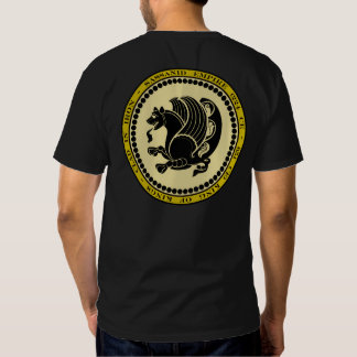 Sassanid Empire Black & Gold Seal Shirt