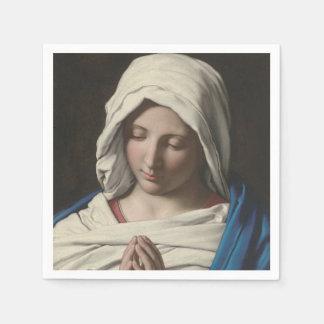 Sassoferrato - Madonna in prayer Disposable Napkins
