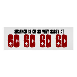 Sassy 60 Sixty Birthday Party Banner Grunge Z60A Poster
