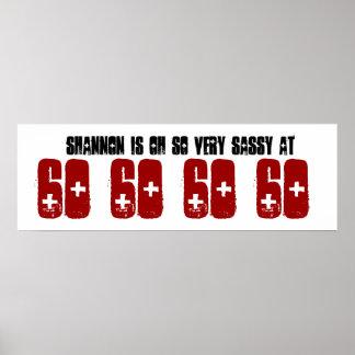 Sassy 60 Sixty Birthday Party Banner Grunge Z60A Print