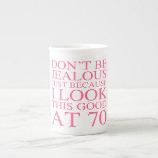 Sassy 70th Birthday For Women Bone China Mug