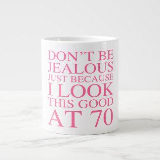 Sassy 70th Birthday For Women Jumbo Mug