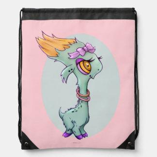 SASSY ALIEN CARTOON Drawstring Backpack