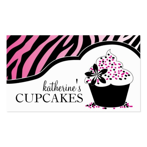Sassy and Modern Cupcake Business Cards