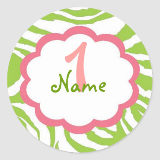 Sassy Baby Girl 1st Birthday Classic Round Sticker