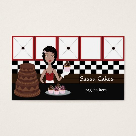 Sassy Baker Bakery Business Cards African American