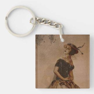 Sassy Ballet Dance in Straw Hat Acrylic Key Chain