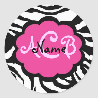 Sassy Black and Pink Zebra Sticker