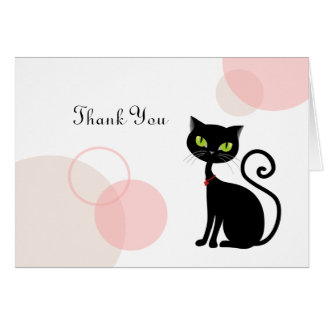 Sassy Black Cat Thank you Card
