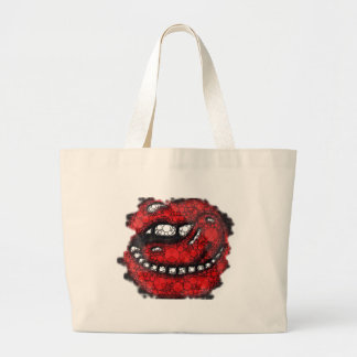 Sassy Bling Lips Jumbo Tote Bag