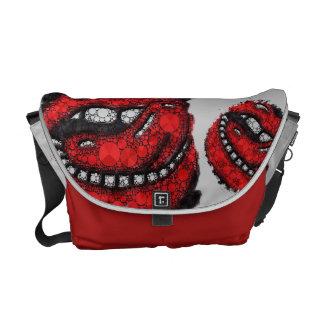 Sassy Bling Lips Man Eater Rickshaw Bag Courier Bags