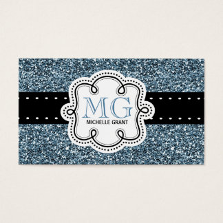 Sassy Blue Glitter Look Ladies Any Profession Business Card