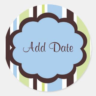 "Sassy Blue ""Save the Date"" Sticker"