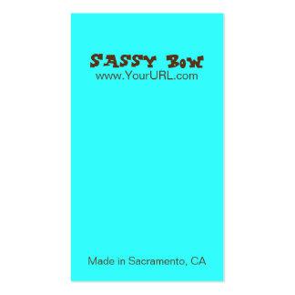 Sassy Bow Blue & Teal Bow Cards Business Card Templates