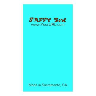 Sassy Bow Blue & Teal Bow Cards Pack Of Standard Business Cards