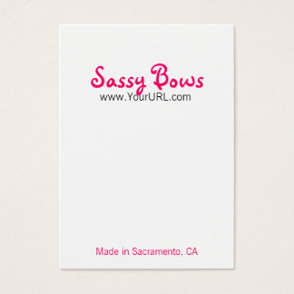 Sassy Bow Chubby Pink & Black Cards