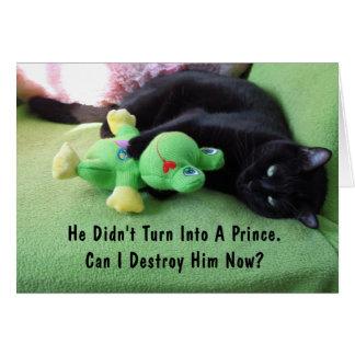 Sassy Cat & Froggy Valentine's Day Card