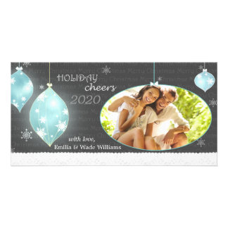 Sassy Christmas Ornaments New Couple Photo Cards