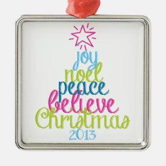 Sassy Christmas Word Tree Christmas Ornament
