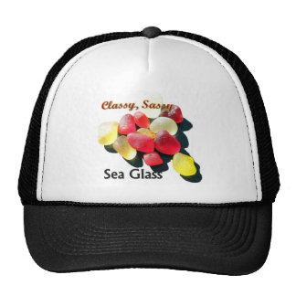 Sassy Classy Sea Glass - Red and yellow Mesh Hat