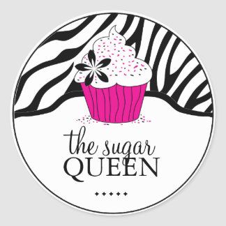 Sassy Decorative Zebra Stripes Bakery  Stickers