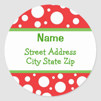 Sassy Dots Christmas Address Labels