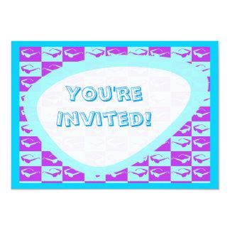 "Sassy Eighties Checks 5"" X 7"" Invitation Card"