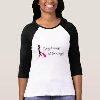 Sassy Flight Attendant Ladies Baseball Tee Tshirts
