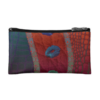 Sassy Florescent Lips Abstract Cosmetics Bags