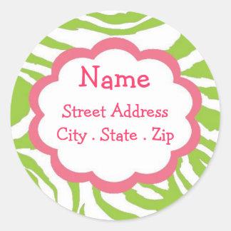 Sassy Girl Address Labels Round Sticker
