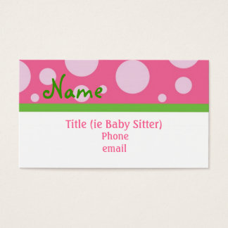 Sassy Girl Business Cards
