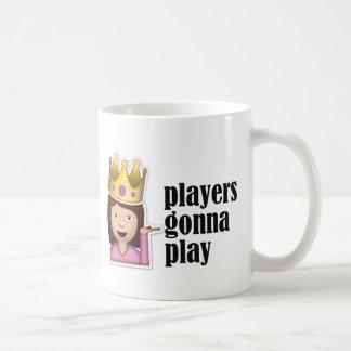 Sassy Girl Emoji - Players Gonna Play Basic White Mug