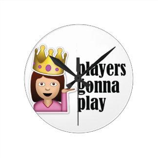 Sassy Girl Emoji - Players Gonna Play Clock