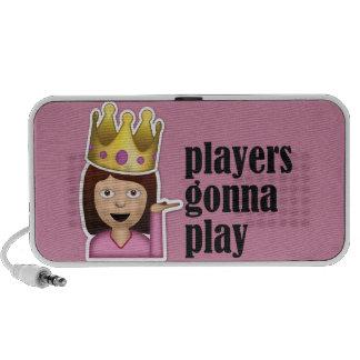 Sassy Girl Emoji - Players Gonna Play Mp3 Speaker