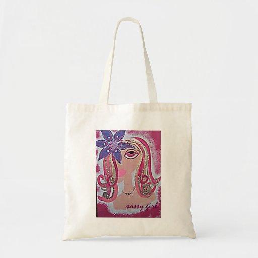 Sassy Girl totebag Tote Bags