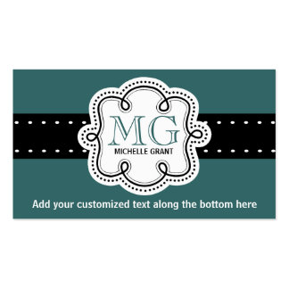 Sassy Girly Teal Personal or Business Calling Card Pack Of Standard Business Cards