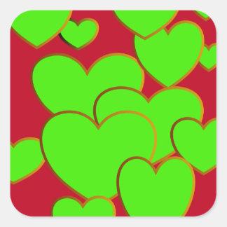 Sassy Green Sweetheart Stickers