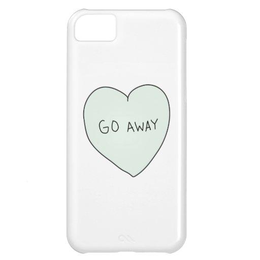 Sassy Heart: Go Away iPhone 5C Case