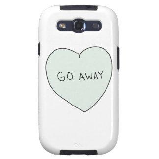 Sassy Heart Go Away Samsung Galaxy SIII Cover